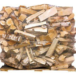 Tørr bjørkeved i storsekk 1000L